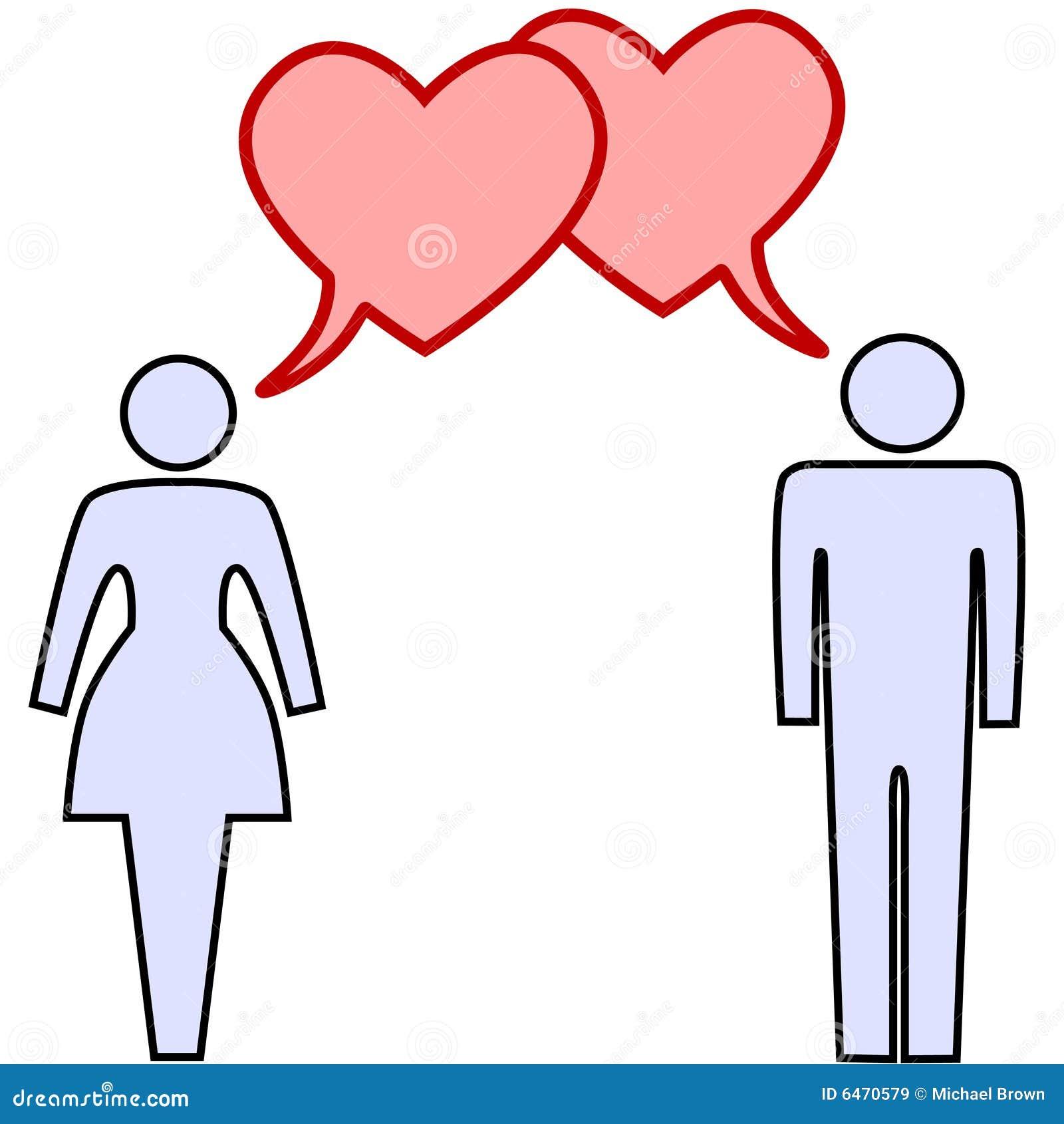 Bańka parę miłości wystąpienie z serca
