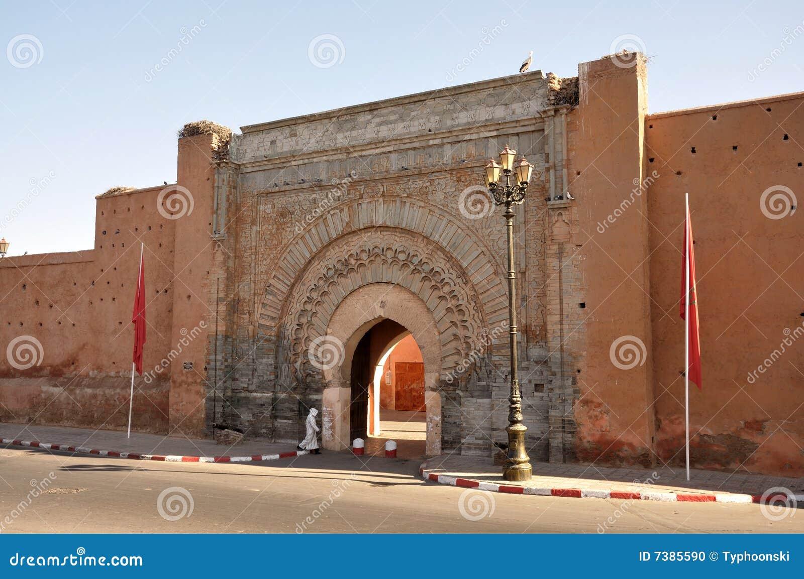Bab Agnaou - City Gate In Marrakech Stock Photo - Image ...