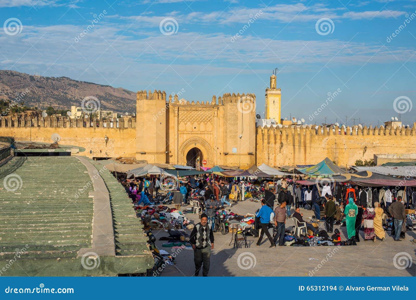 fez el bali medina morocco stock images