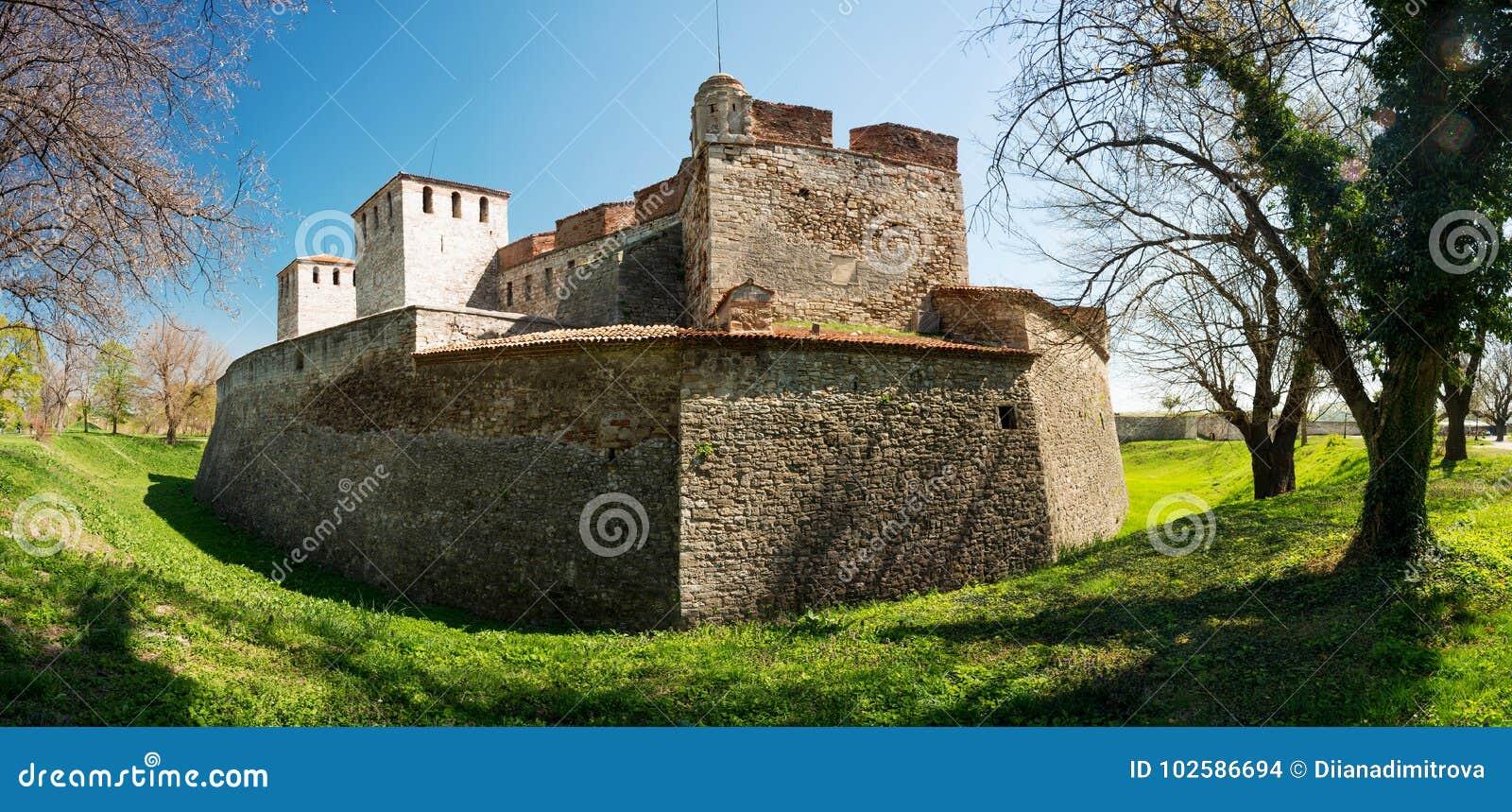 Baba Vida - alte mittelalterliche Festung in Vidin, in nordwestlichem Bulgarien Reise zu Bulgarien-Konzept