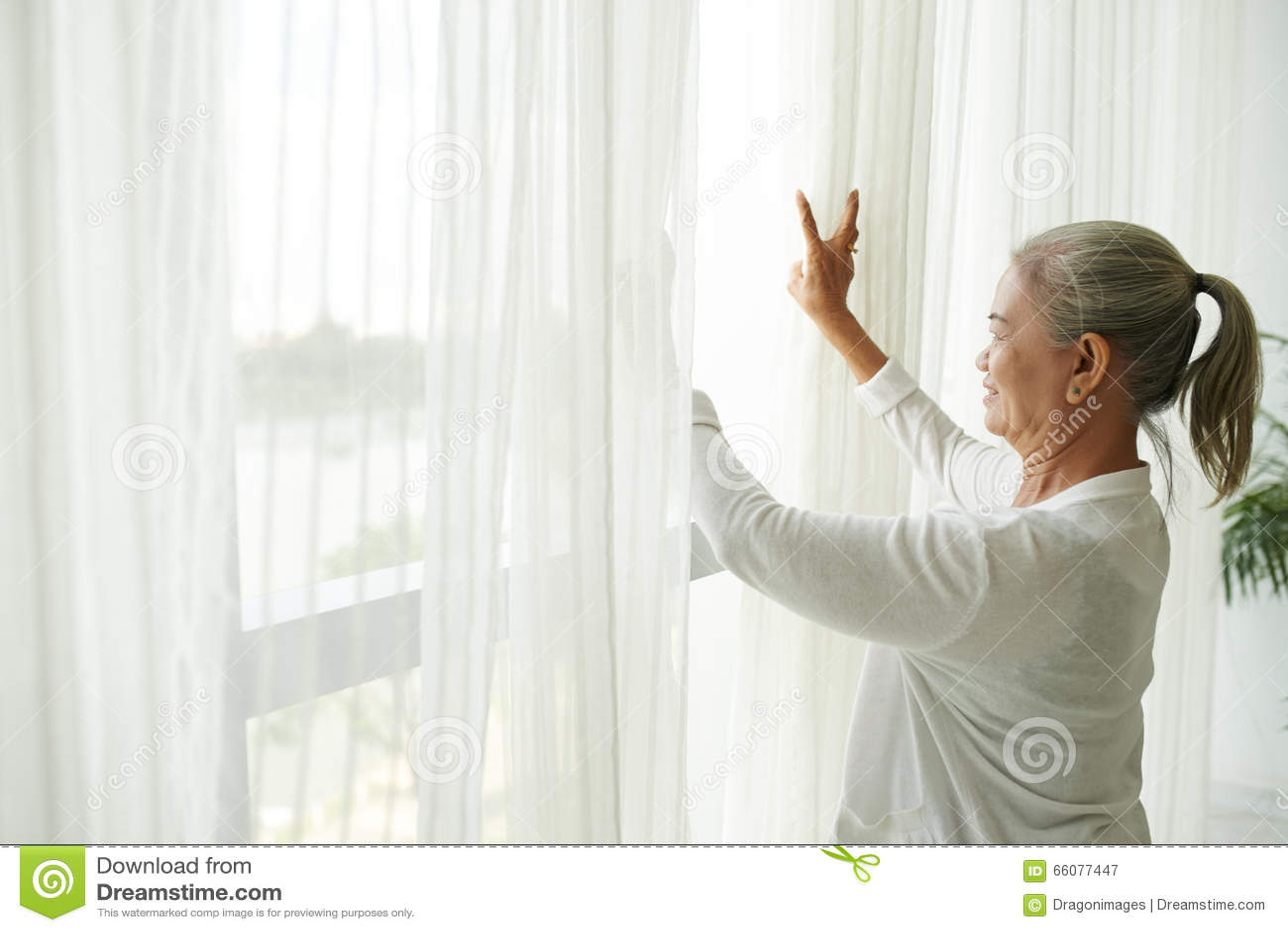Babcia okno