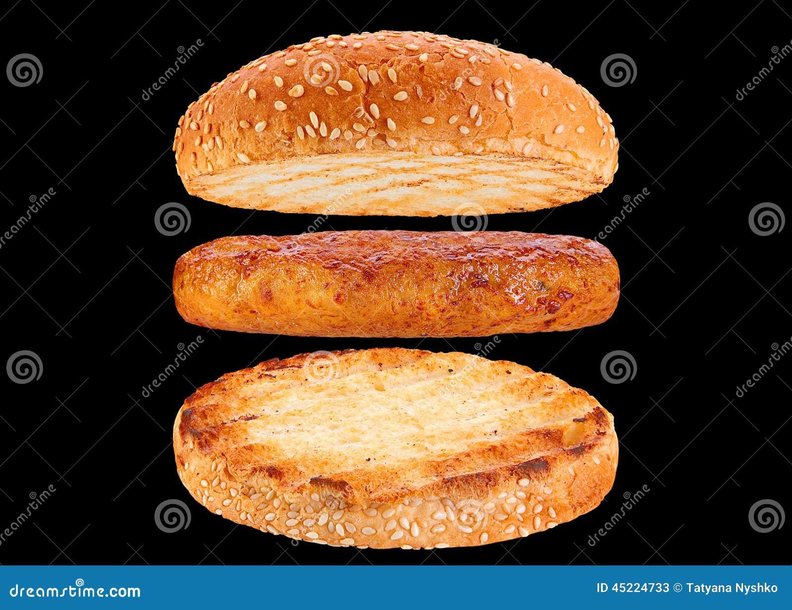 Babeczki i kurczaka rissole składnika hamburger
