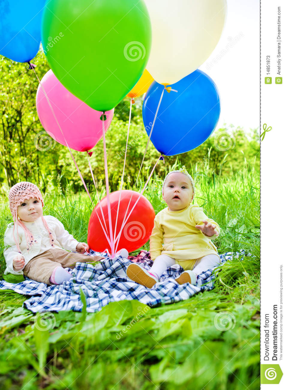 Babies with balloons