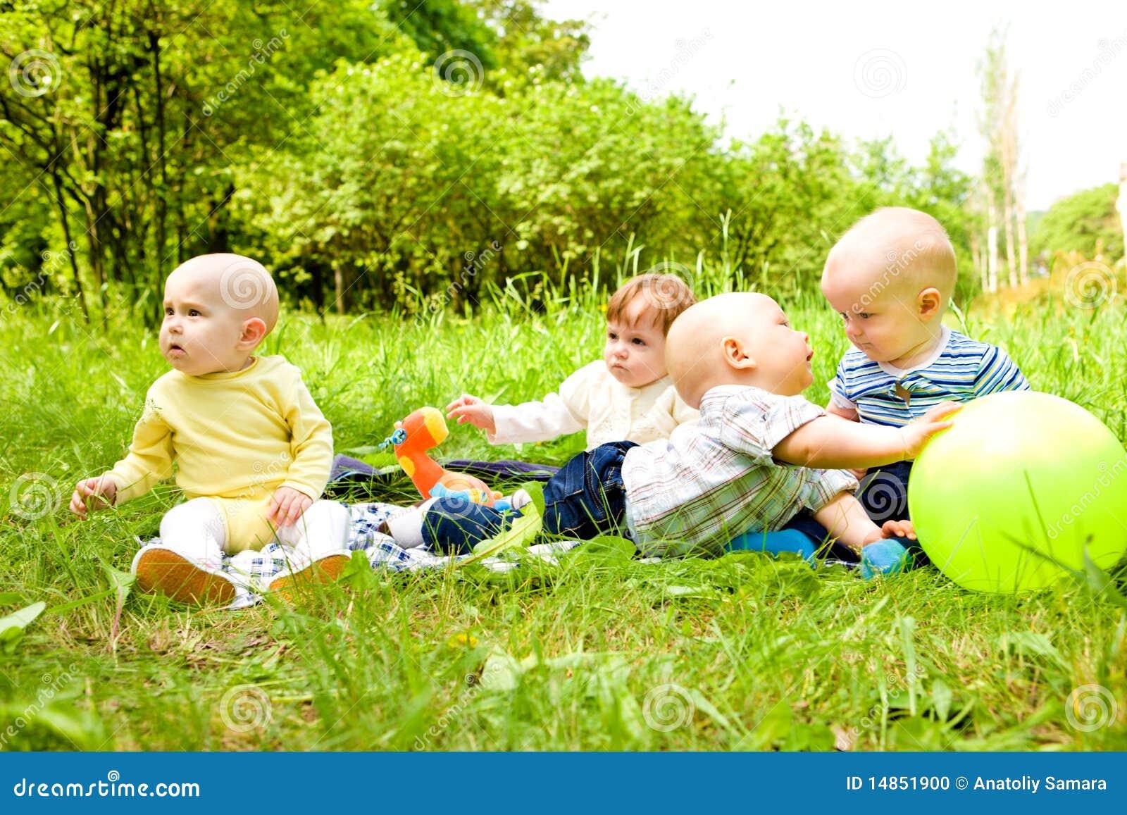 Babies in the outdoor