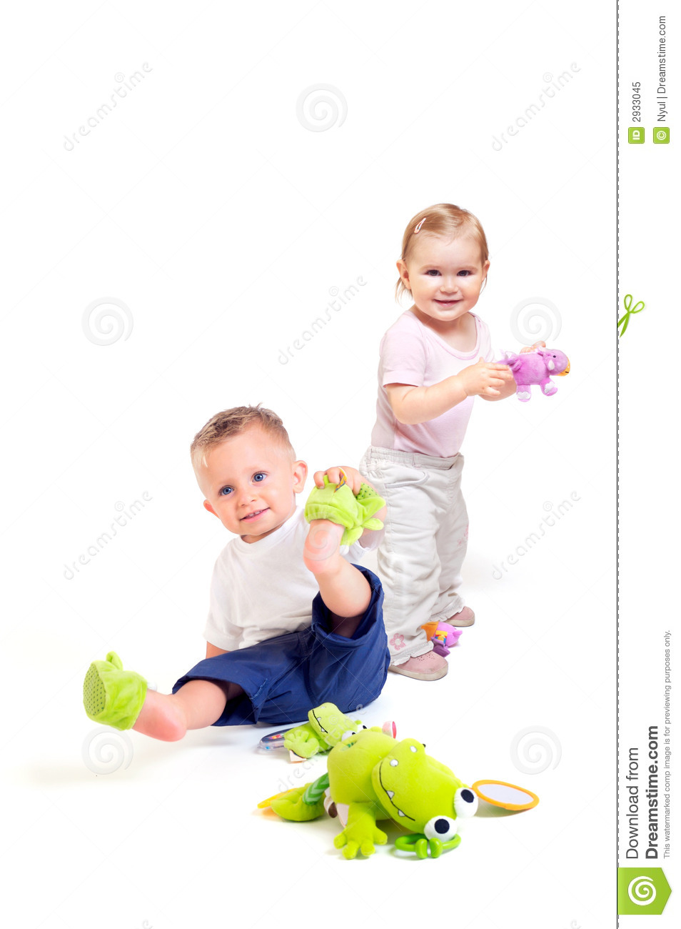 Play Toys Com : Babies play with toys royalty free stock photo image
