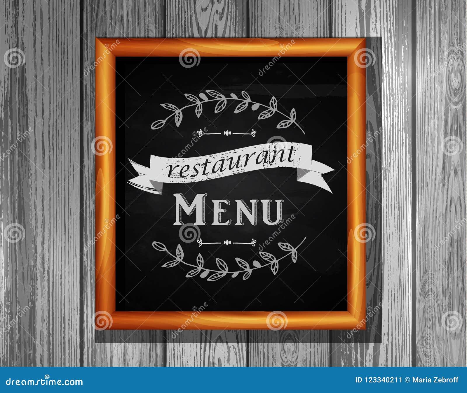 Babillards De Menu De Restaurant De Panneau De Menu De Restaurant Illustration De Vecteur Illustration Du Restaurant Panneau 123340211