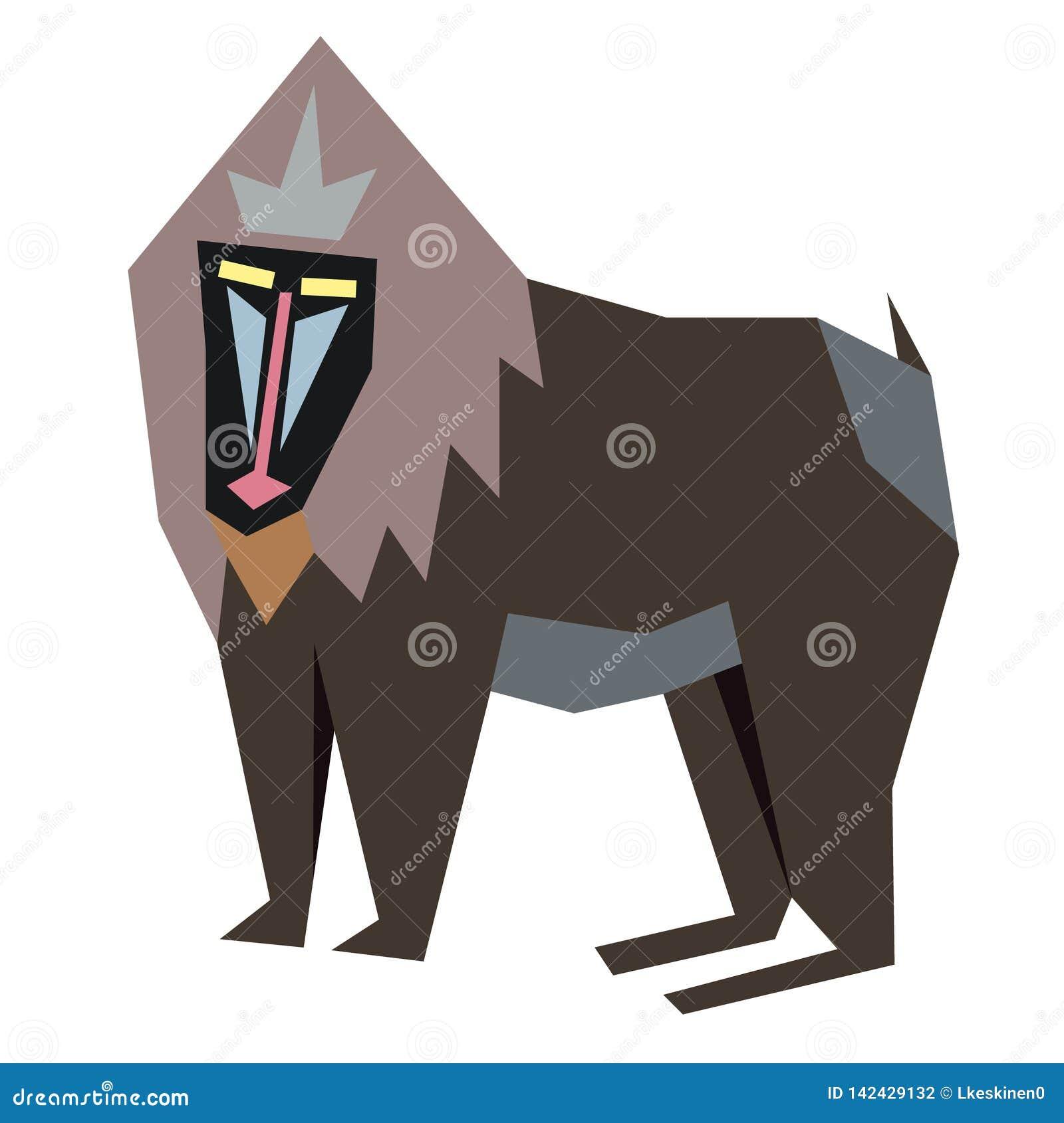 Baboon επίπεδη απεικόνιση