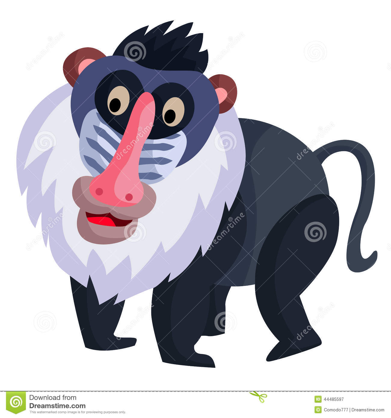 Baboon Stock Vector - Image: 44485597