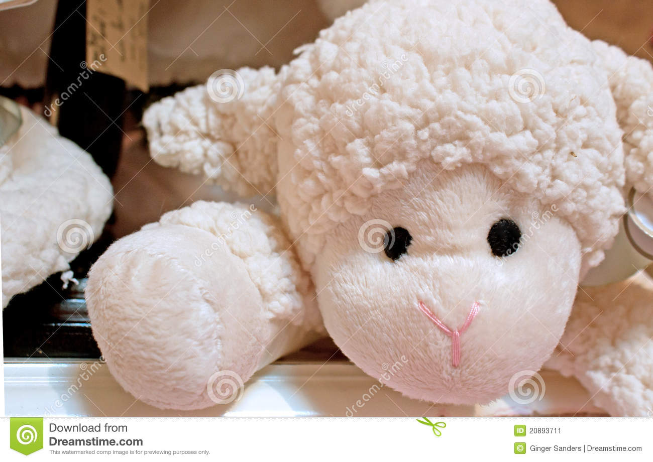 Baby S Toy Stuffed Lamb Stock Image Image Of Baby Cute 20893711