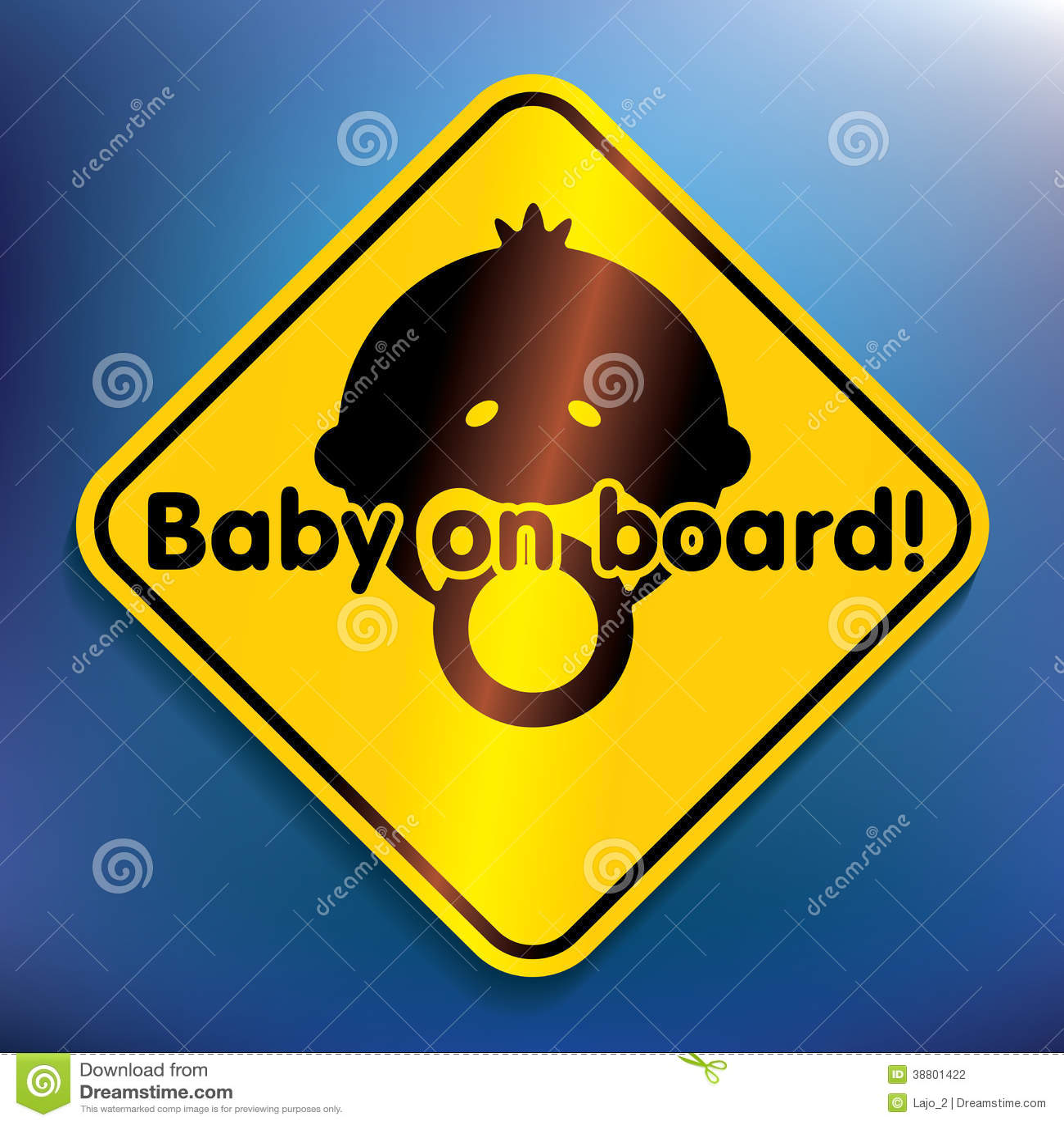 Baby aan boord van sticker