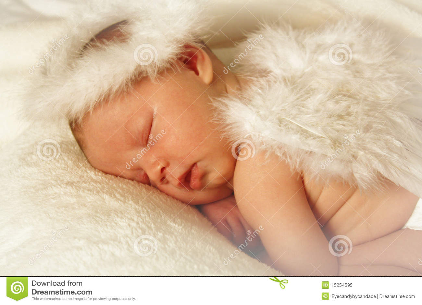 Newborn Identical Twins Baby Angel Royalty Fre...
