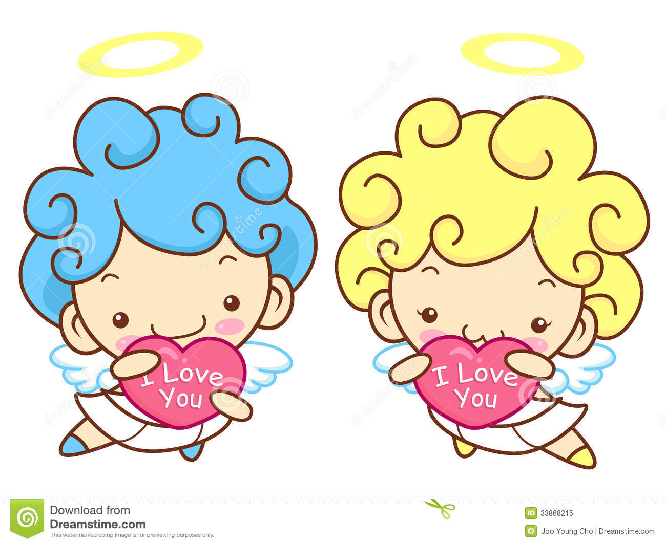 Baby Angel Character Is Holding A Big Heart. Angel Character Des ...