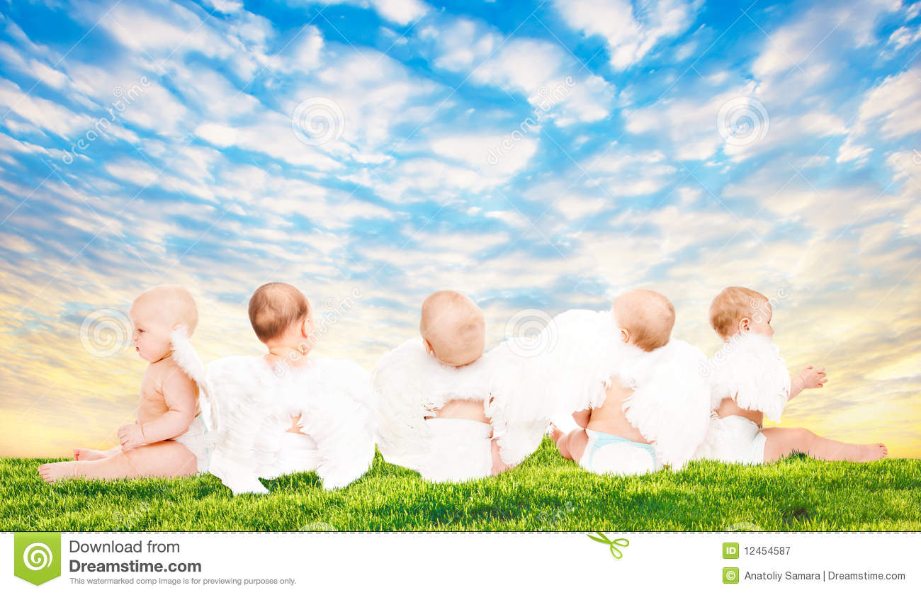 baby angels royalty free stock photography