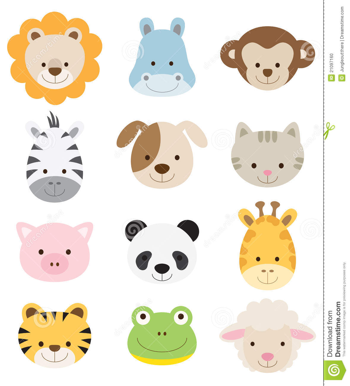 Baby Animal Faces Stock Photo - Image: 21097160