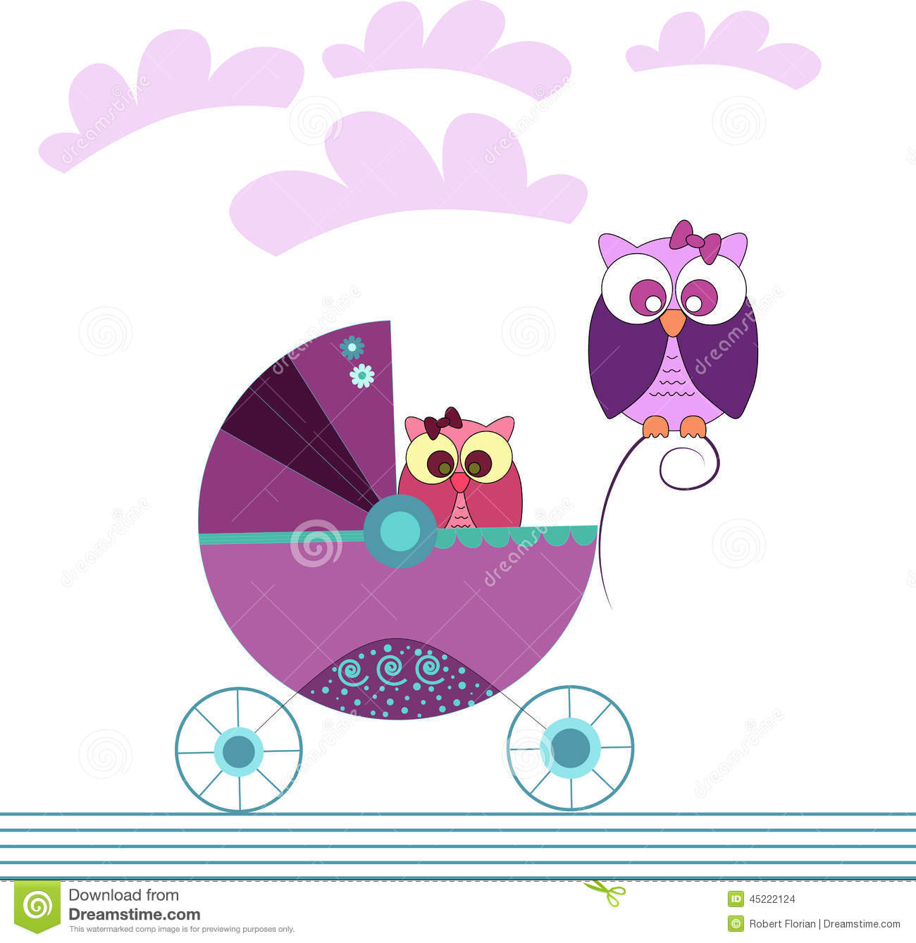 baby arrival stock vector  illustration of cheerful