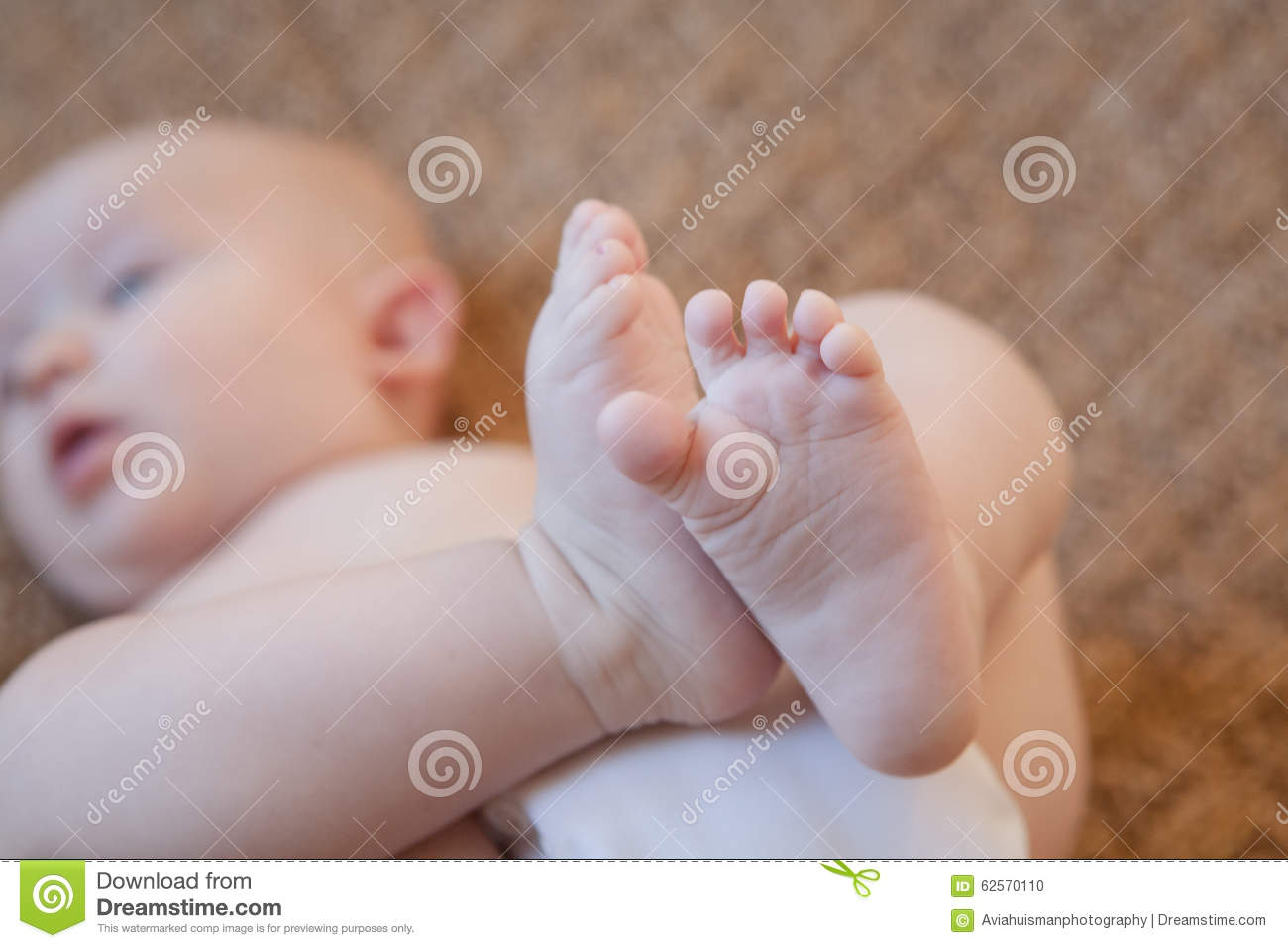 Baby On Back with Feet Up