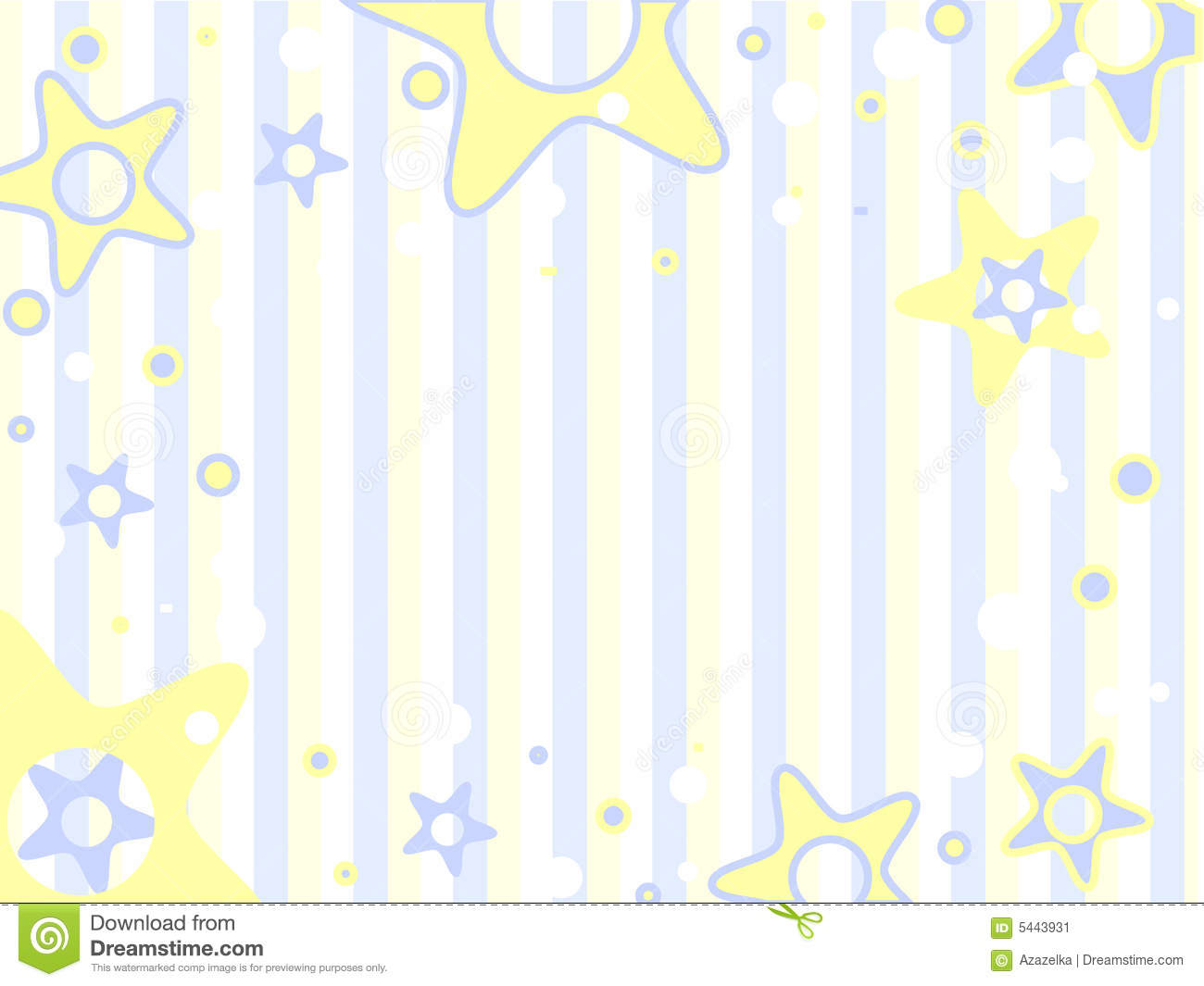 Blue and yellow stars on a trips background  Vector background Unisex Baby Backgrounds