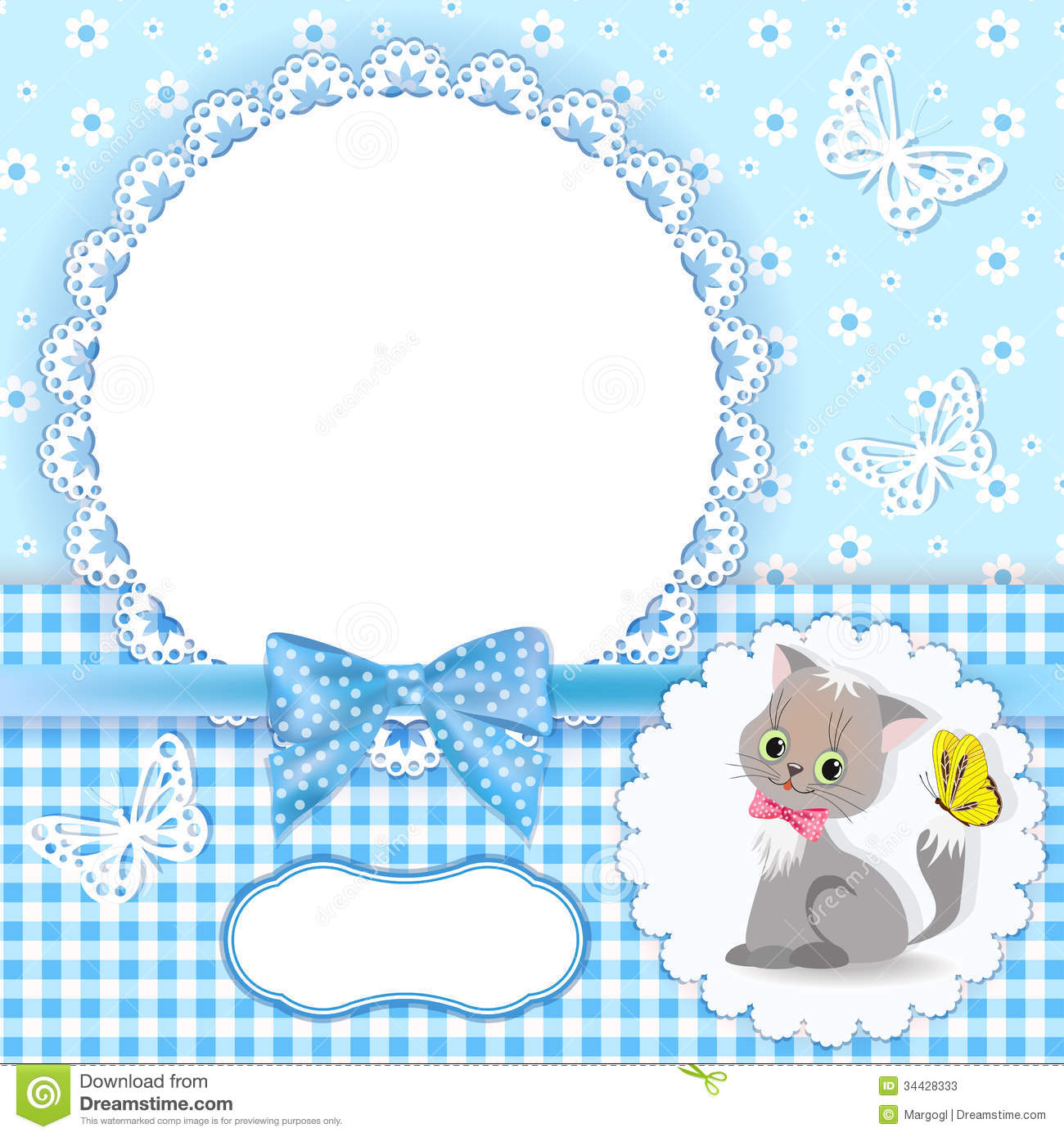 Baby Background With Frame. Stock Photos - Image: 34428333