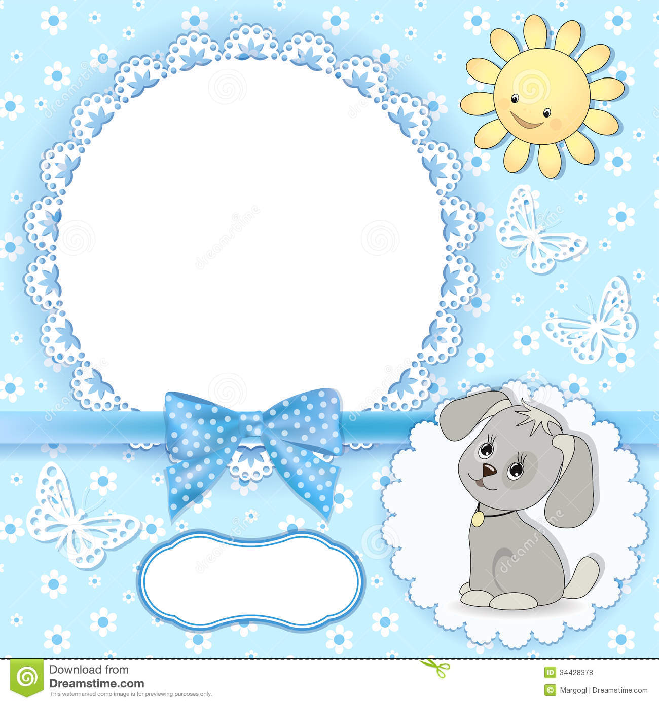 Baby Background With Frame. Stock Vector - Illustration of element ...