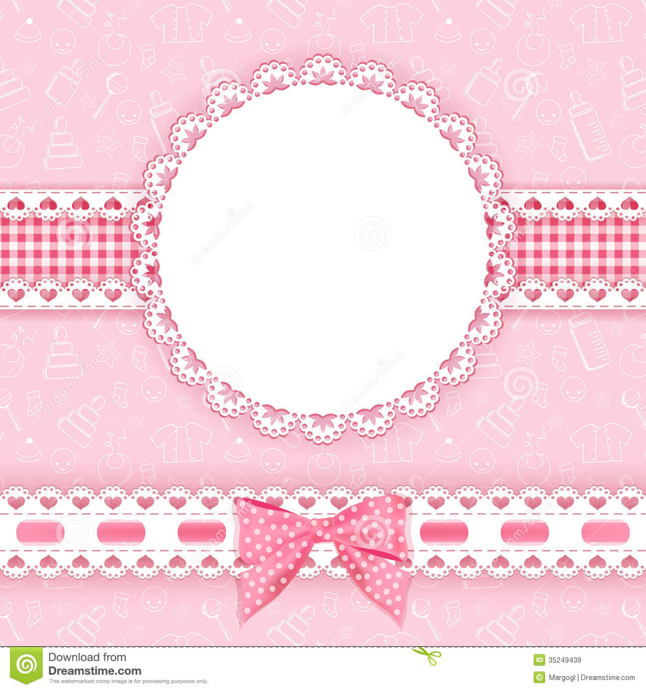 Baby background with frame royalty free stock images - Baby background ...