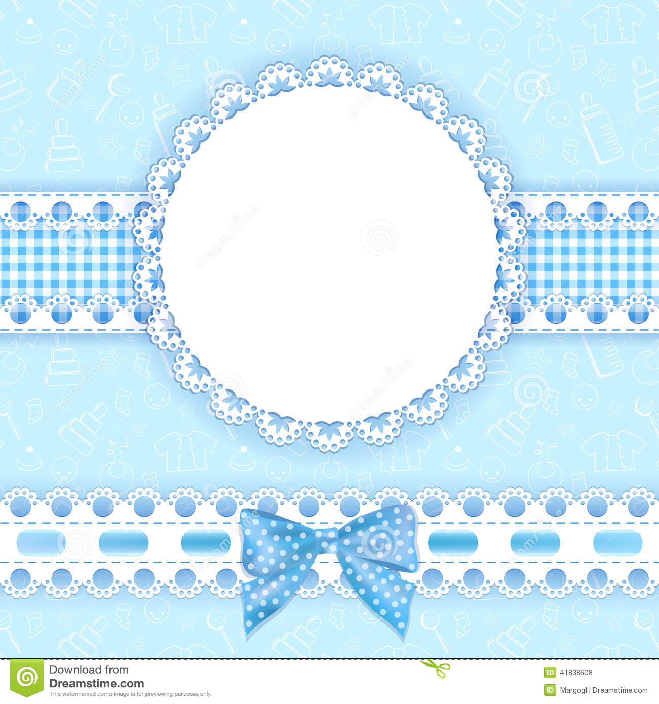Baby Background With Frame. Stock Vector - Illustration of ...