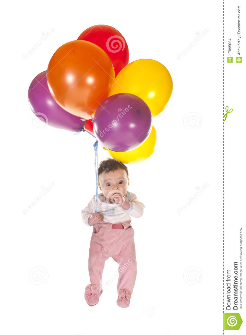 Baby With Balloons Stock Images - Image: 17895024