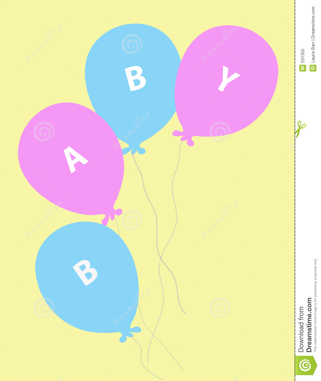 Baby Balloons Royalty Free Stock Photo - Image: 531355