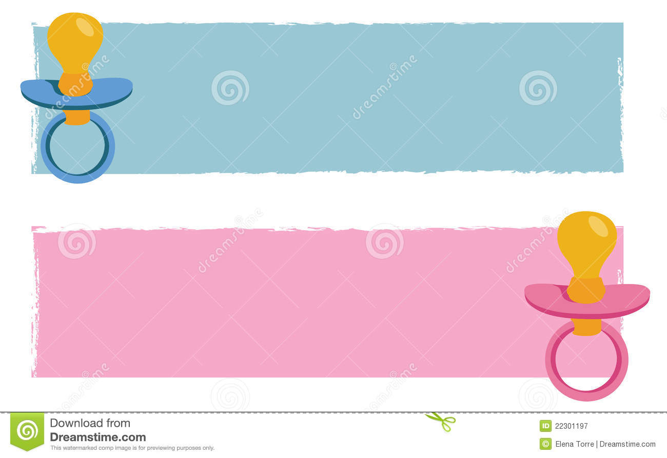 Baby Banners Vector Royalty Free Stock Photography - Image: 22301197