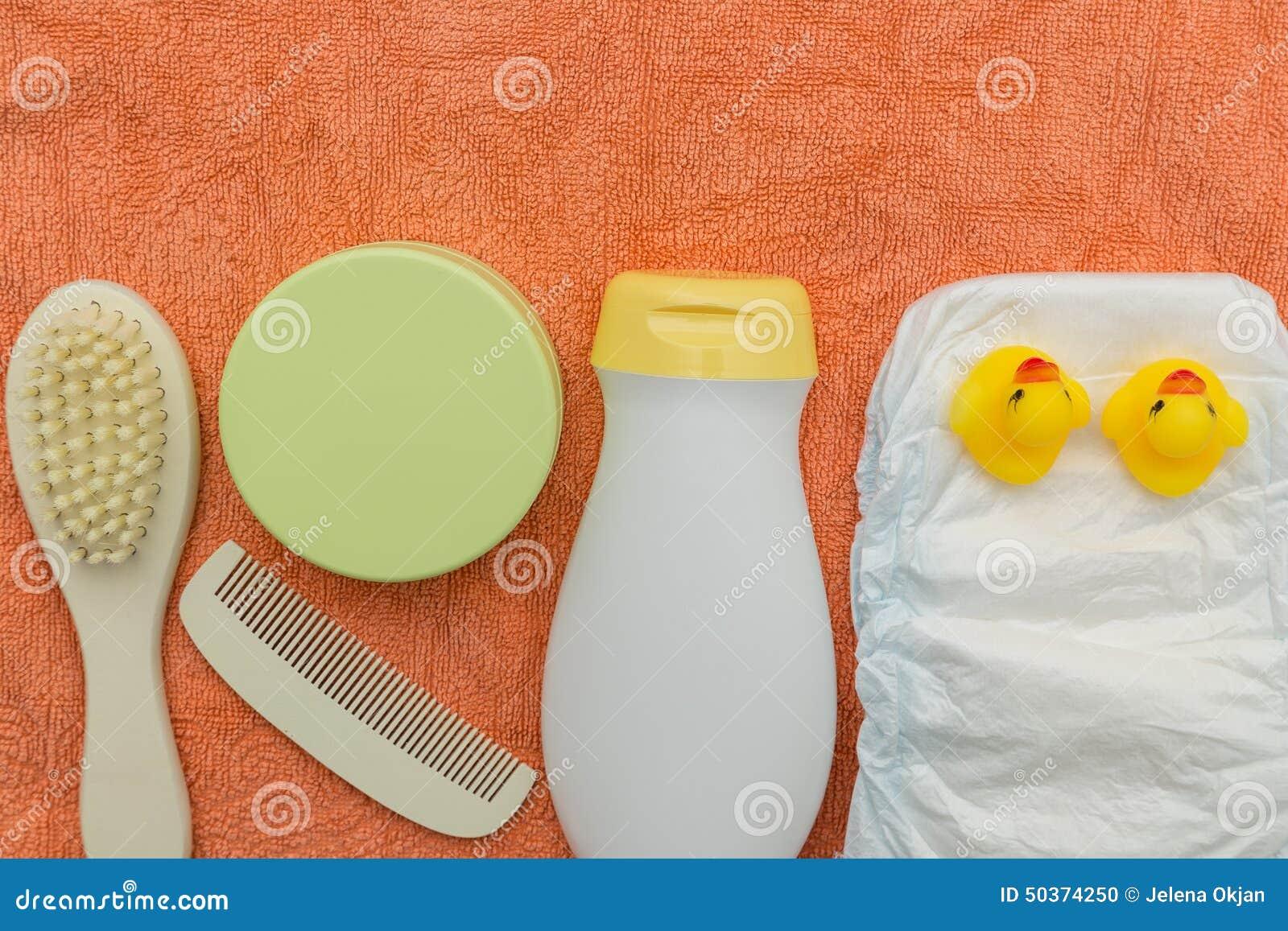 Baby bath accessories stock photo image 50374250
