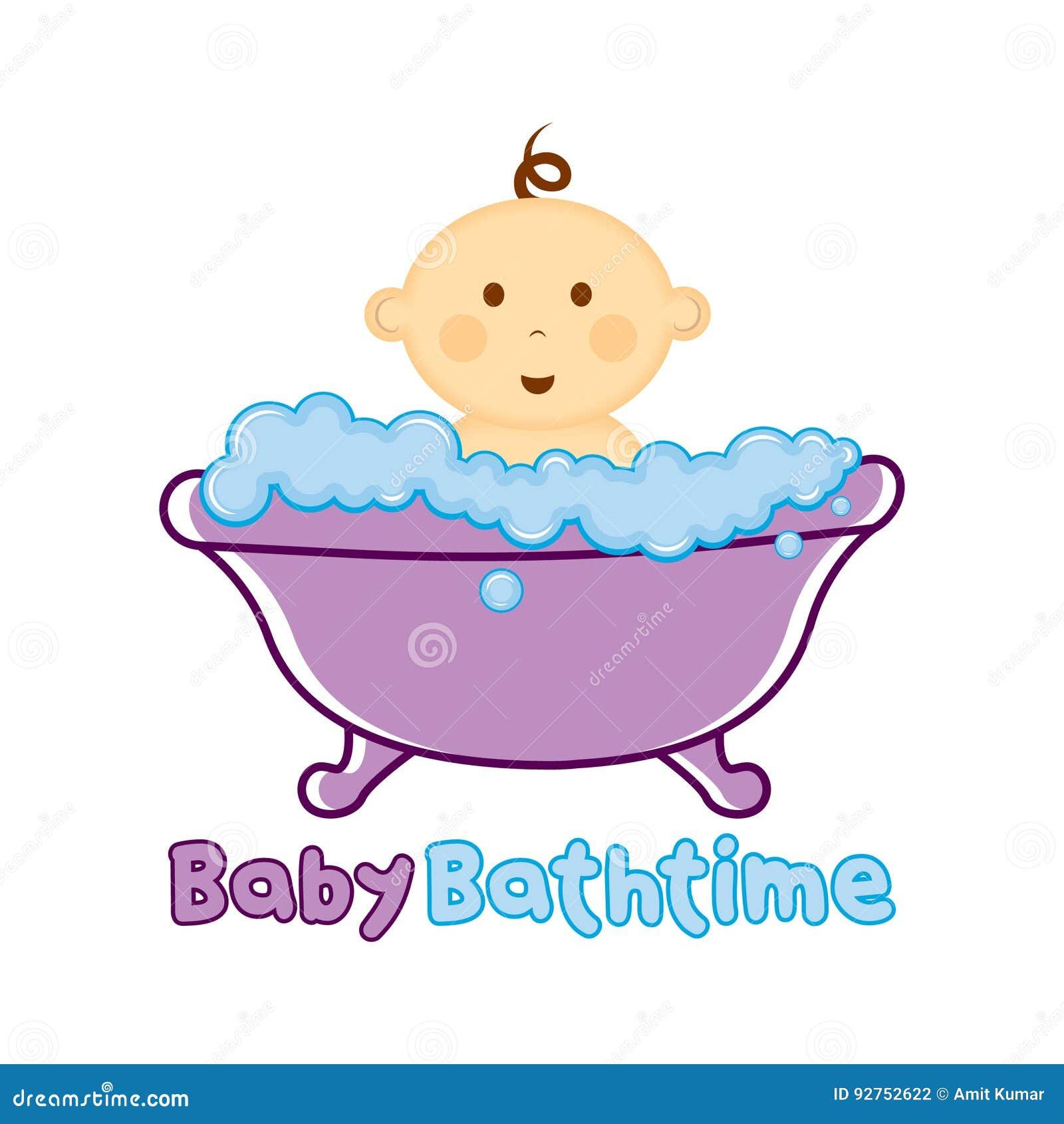 baby bath time logo template  baby bathing logo  baby