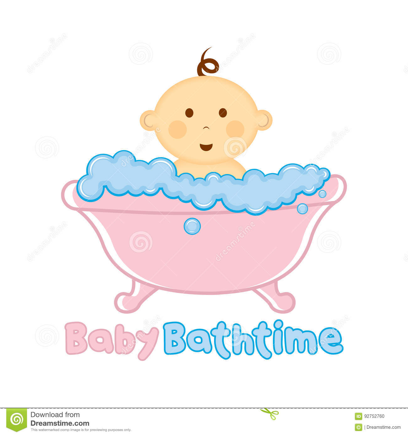 Baby Bath Time Logo Template Baby Bathing Logo Baby Shower Stock