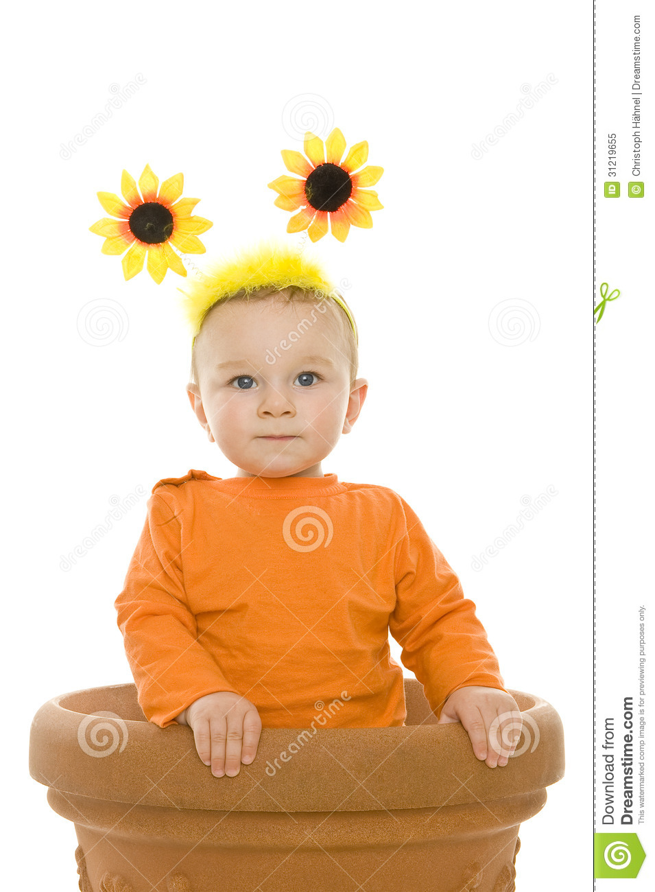 Baby Stock Image Image Of Fasching Flower Disguise 31219655