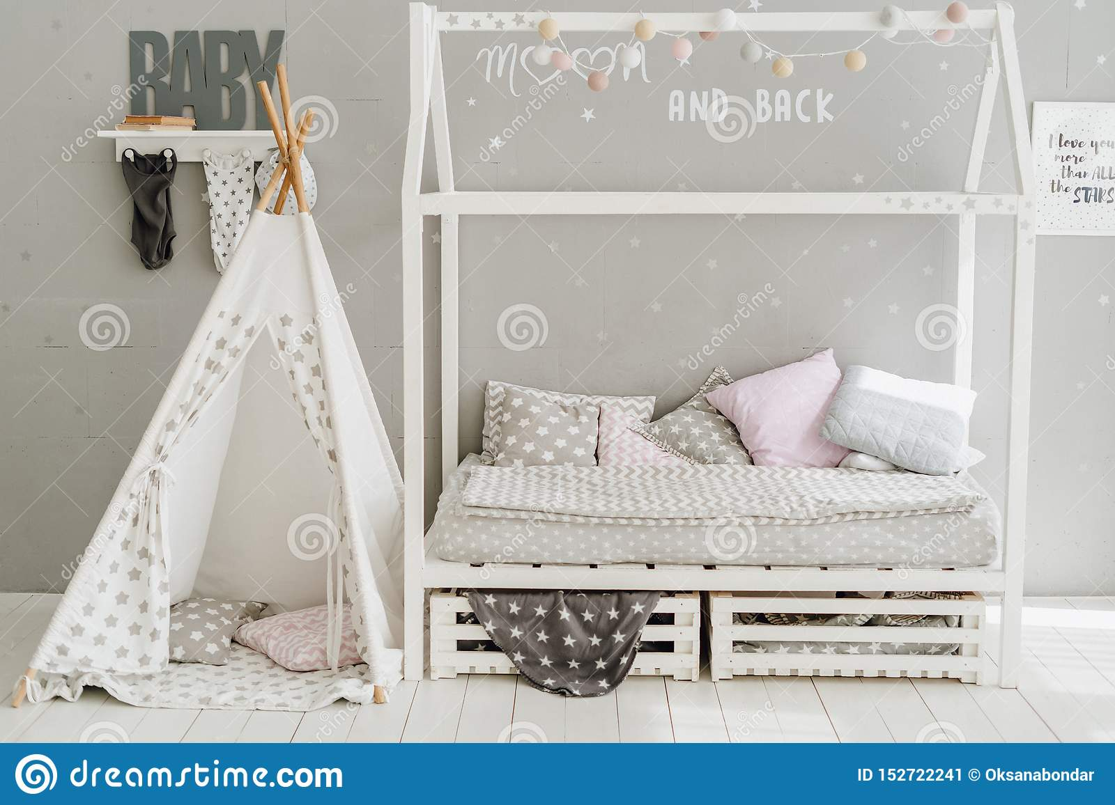 Baby Bedroom Interior Room Pastel Pillow Design