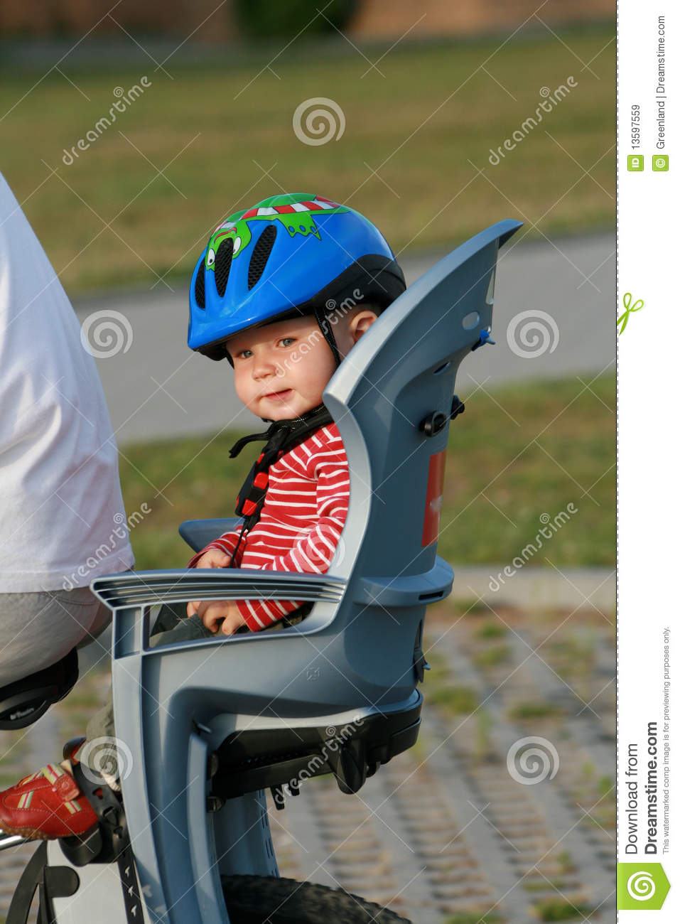 Baby In Bicycle Chair Royalty Free Stock Images Image