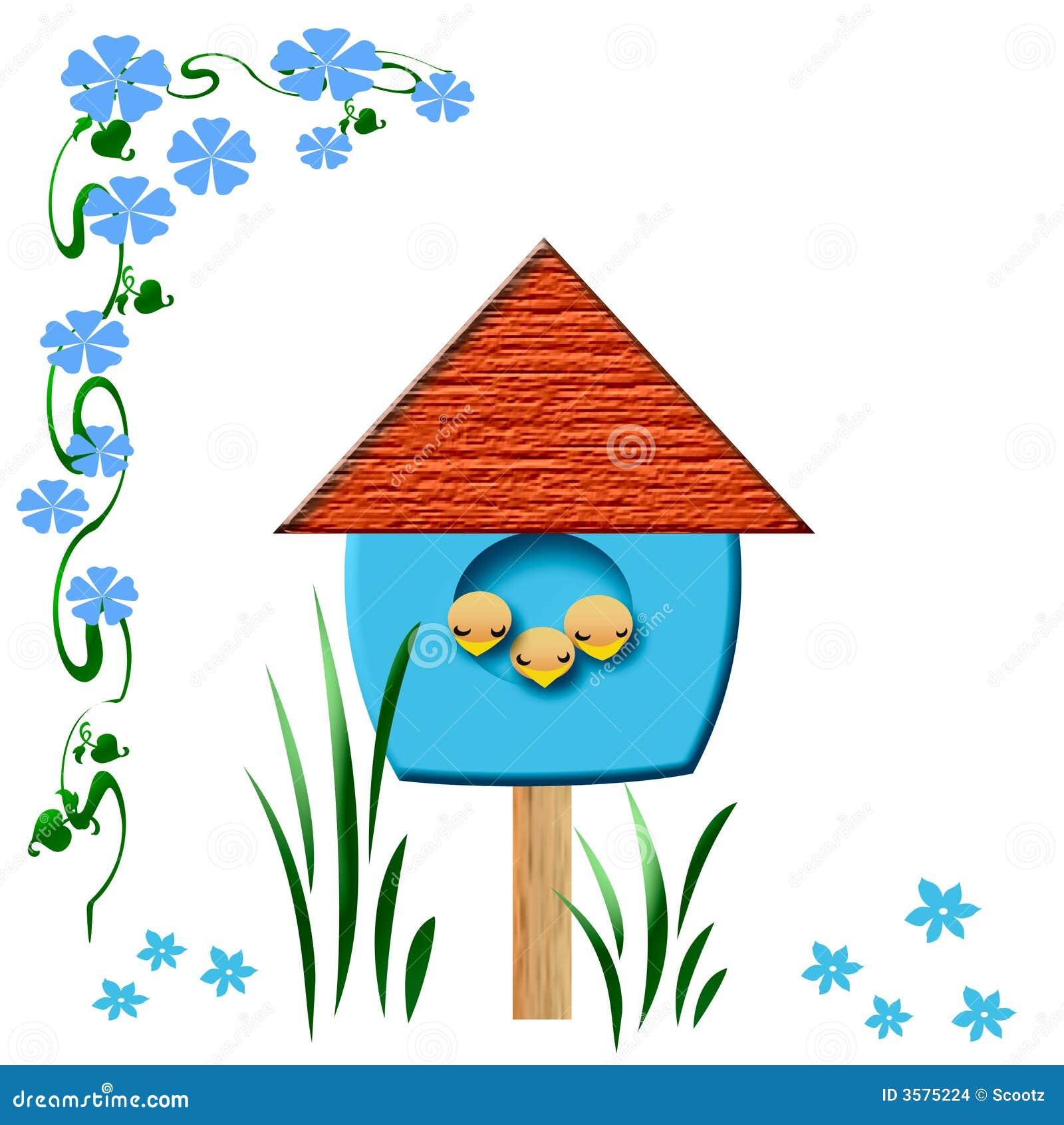Baby birds birdhouse