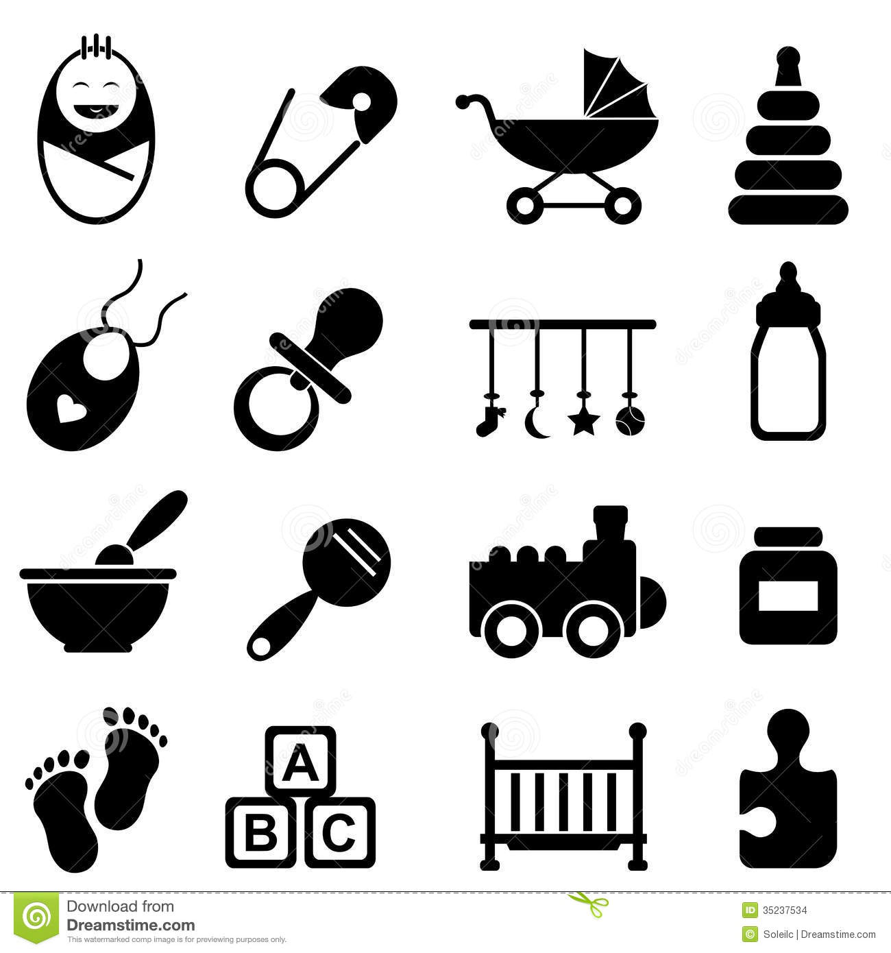 Baby And Birth Icons Stock Images Image 35237534