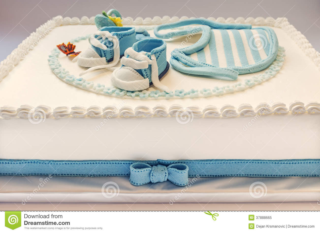 Baby Birthday Cake Stock Image Image Of Dessert Childhood 37888665