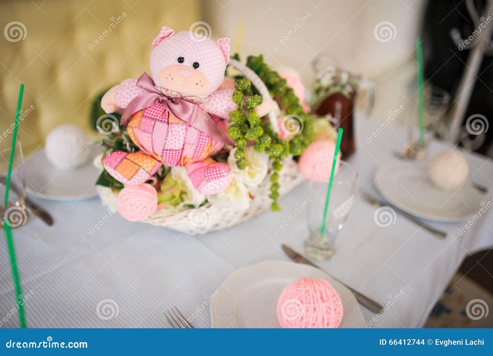 Baby Birthday Decor Or Shower Pink Bear