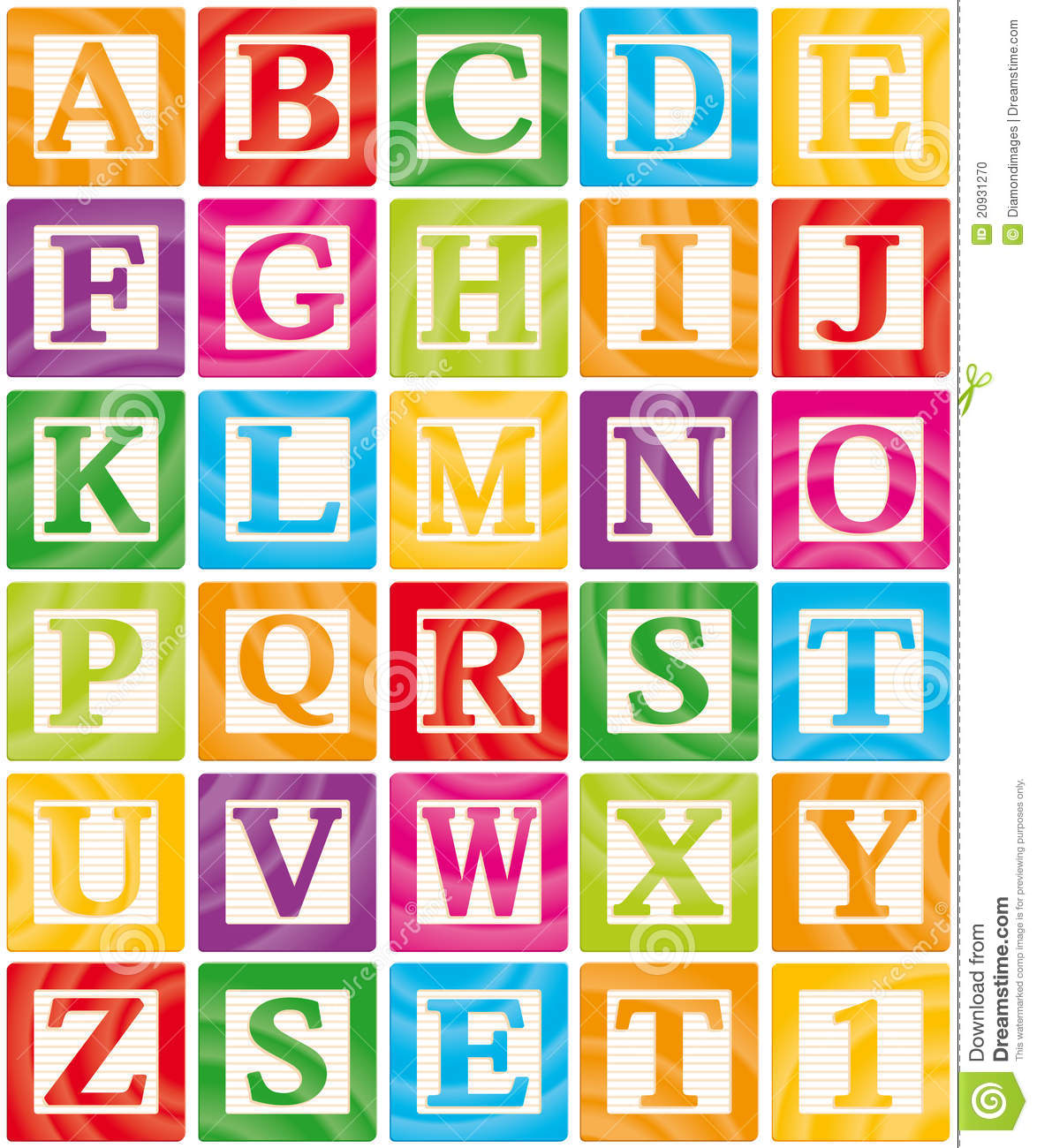 Baby Blocks Set 1 Of 3 - Capital Letters Alphabet Stock Photo - Image ...