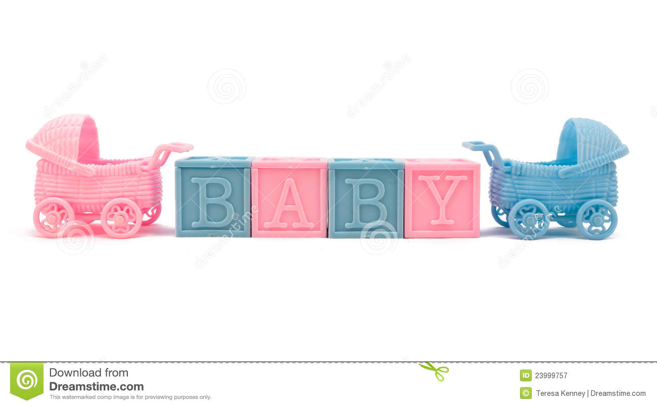 Baby Blocks And Strollers Royalty Free Stock Photography