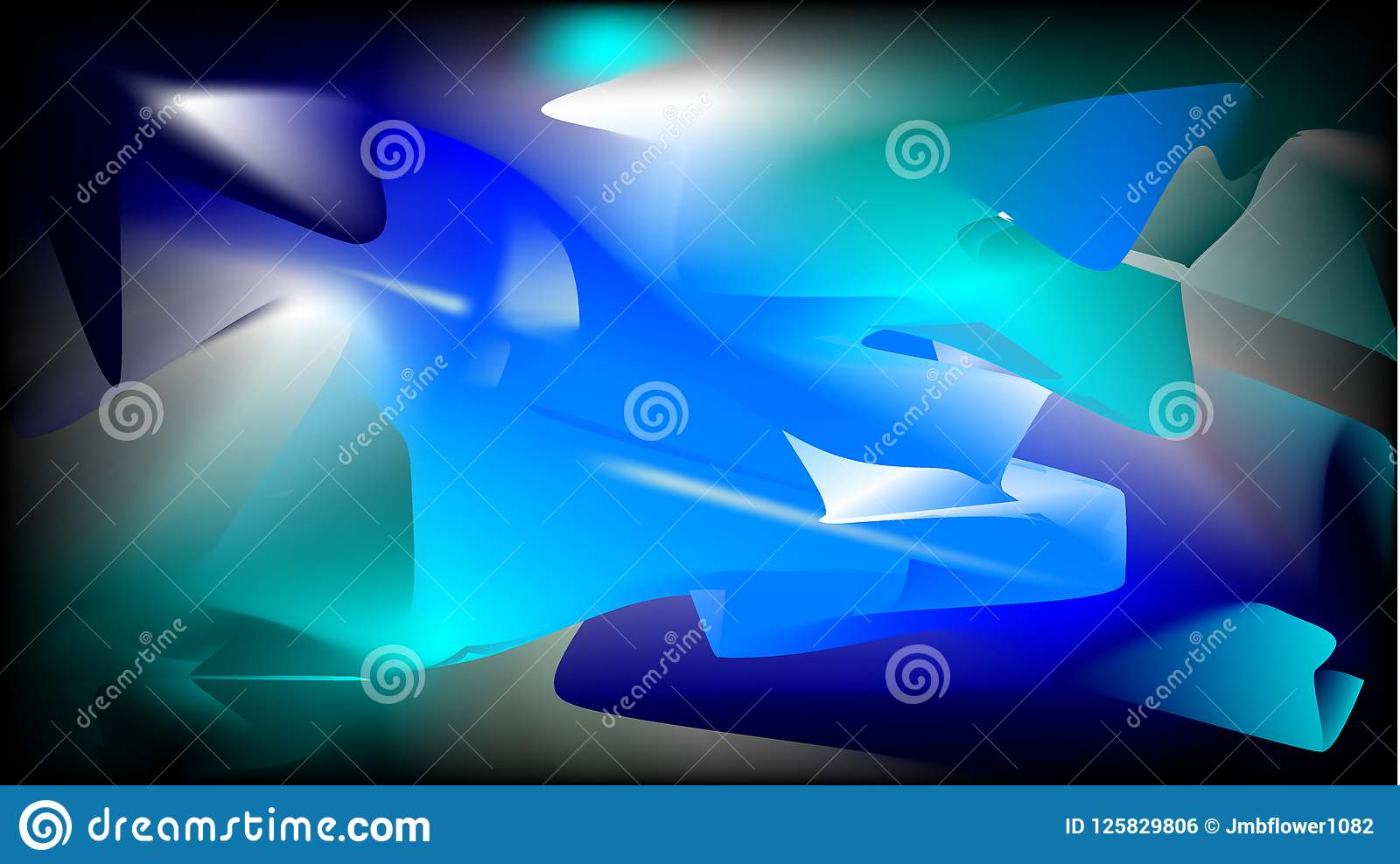 Baby Blue Aqua Black White And Navy Blue Abstract Vector