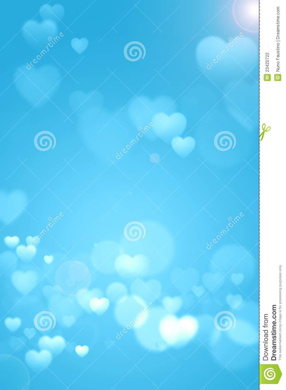 Baby Blue Hearts Background Stock Photography Image