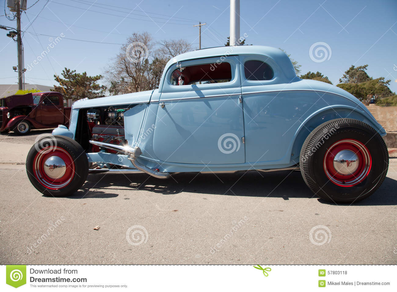 Baby Blue Hot Rod In Oklahoma Stock Photo - Image of autos, body ...