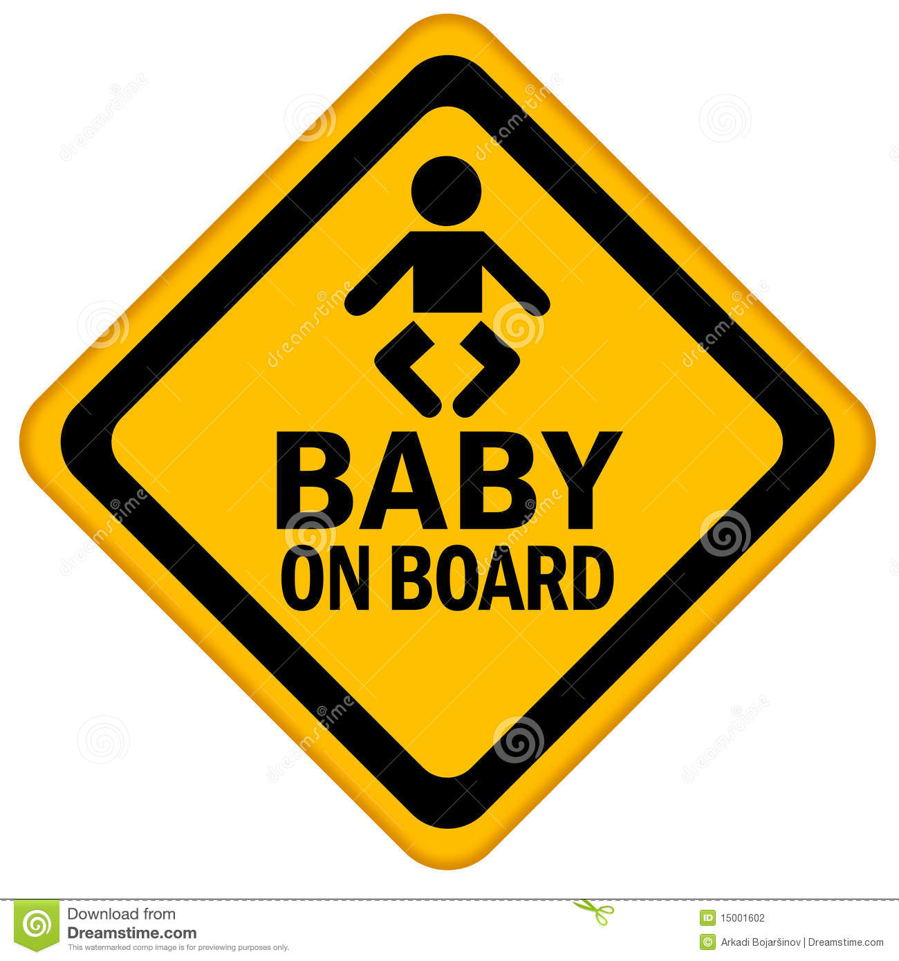 clipart baby on board-#22