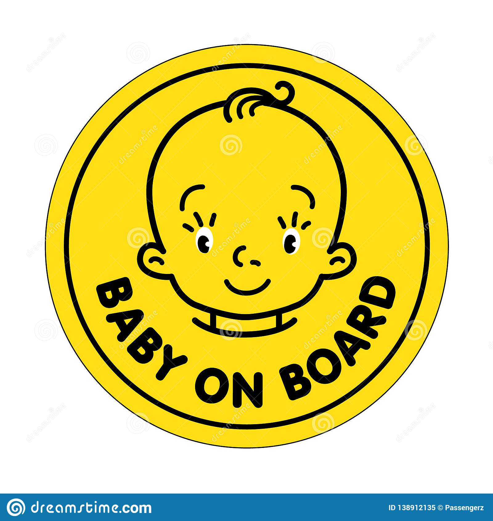 Baby on board or baby in car sticker
