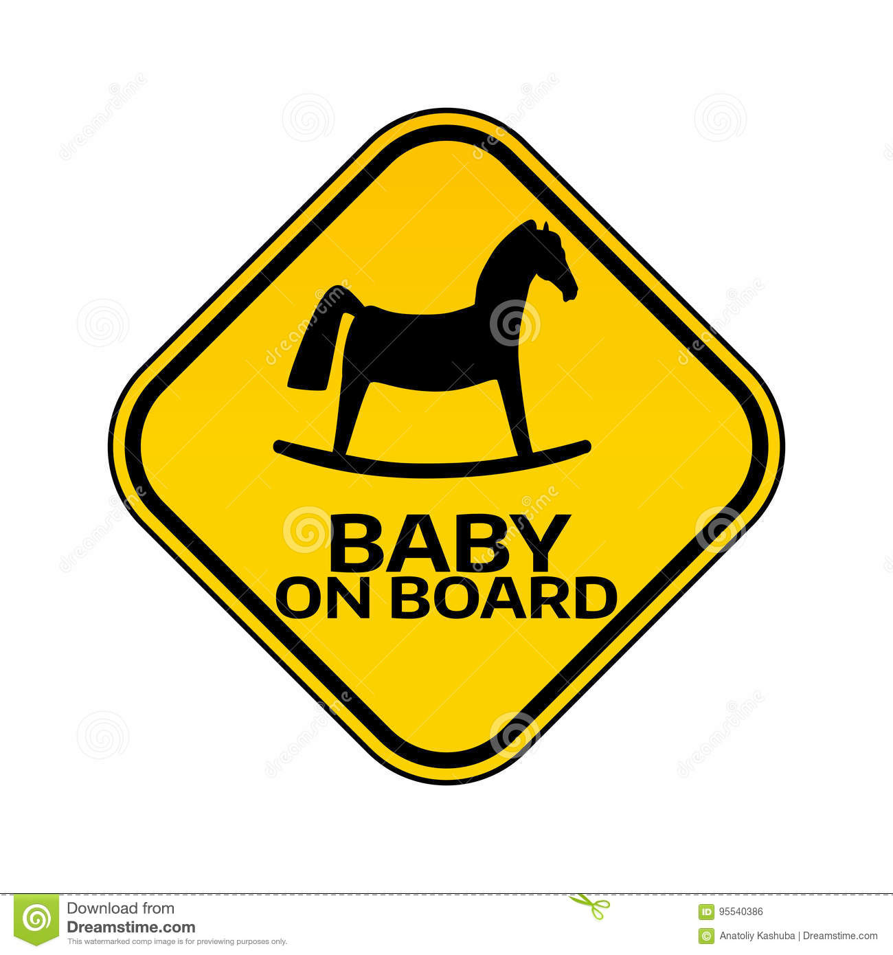 Baby on board sign with child horse stock vector illustration of baby on board sign with child horse biocorpaavc Gallery