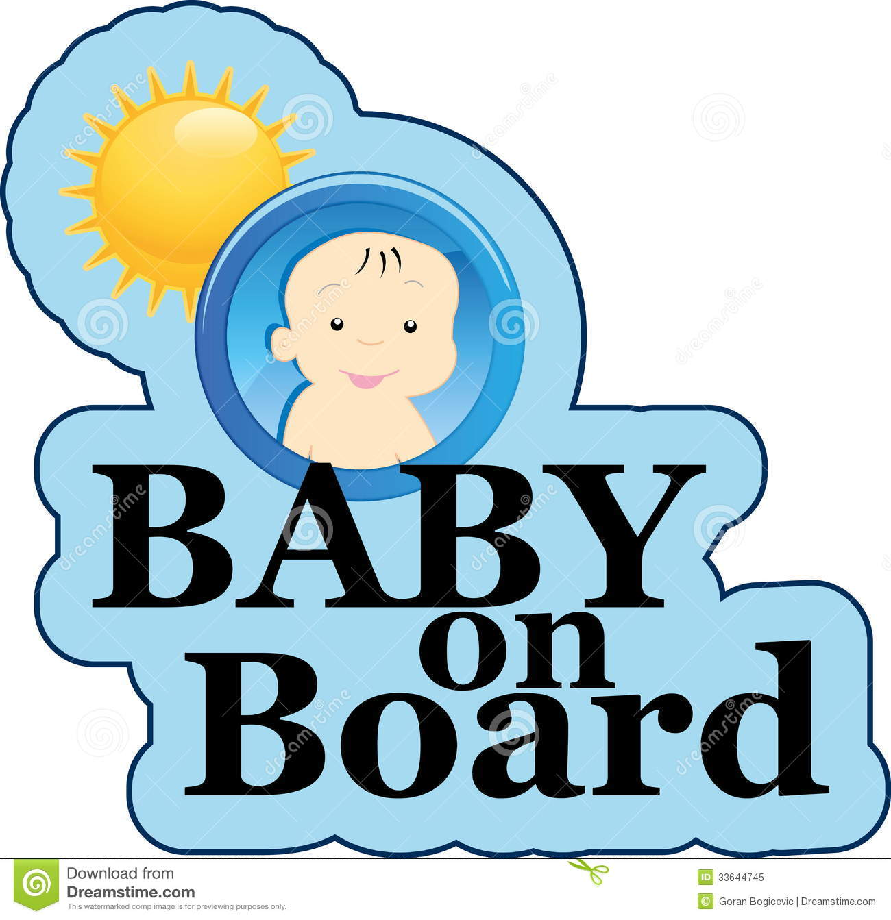 clipart baby on board-#17
