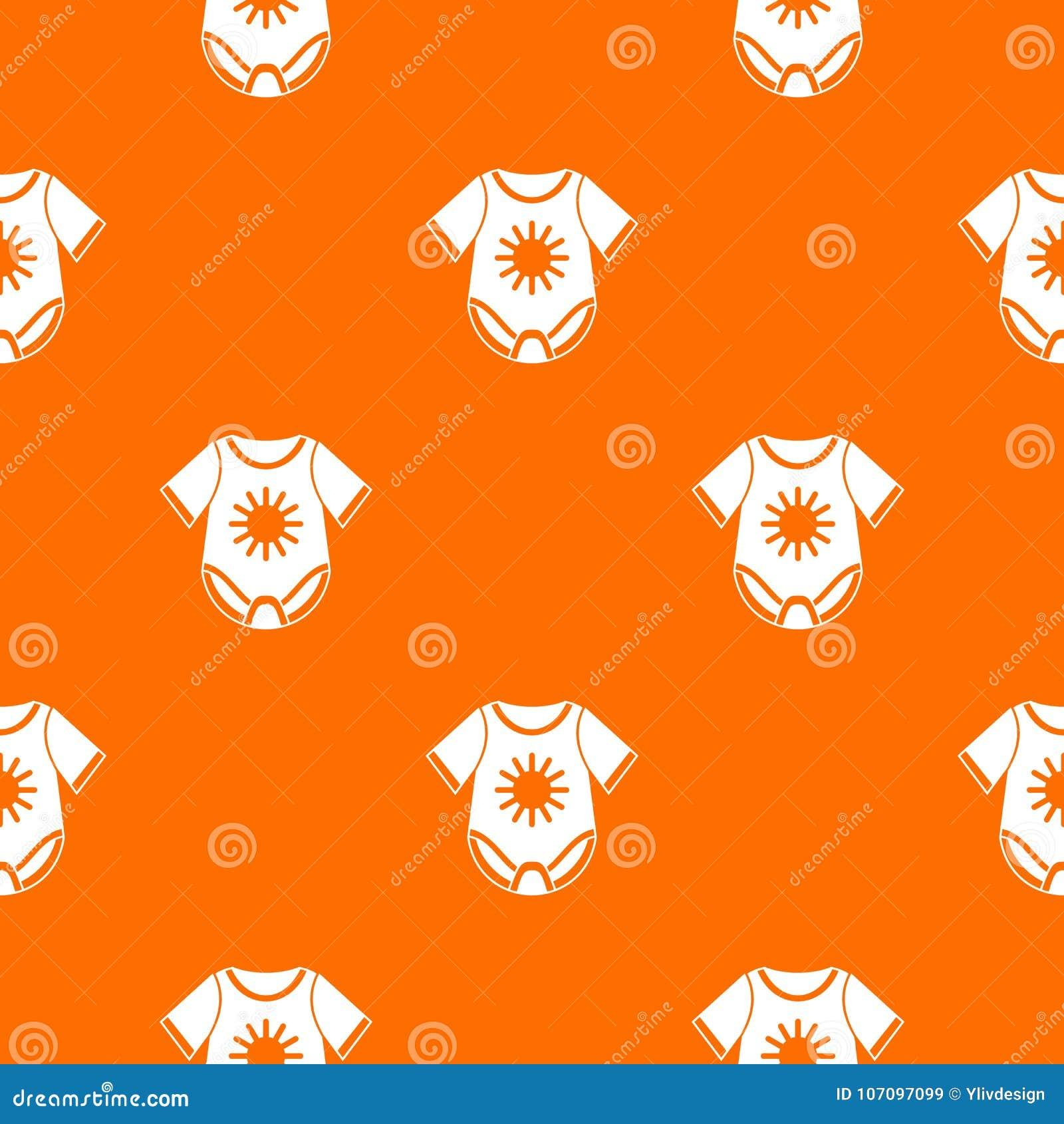 Baby bodysuit pattern seamless