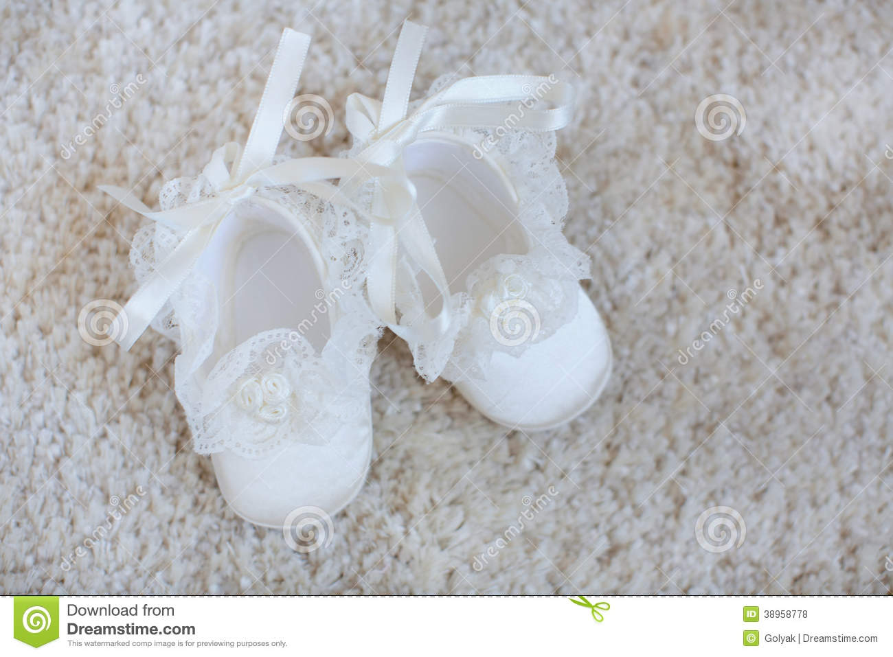 56ae895af4cb5 Baby Booties On White Lace. Stock Photo - Image of clothing, female ...