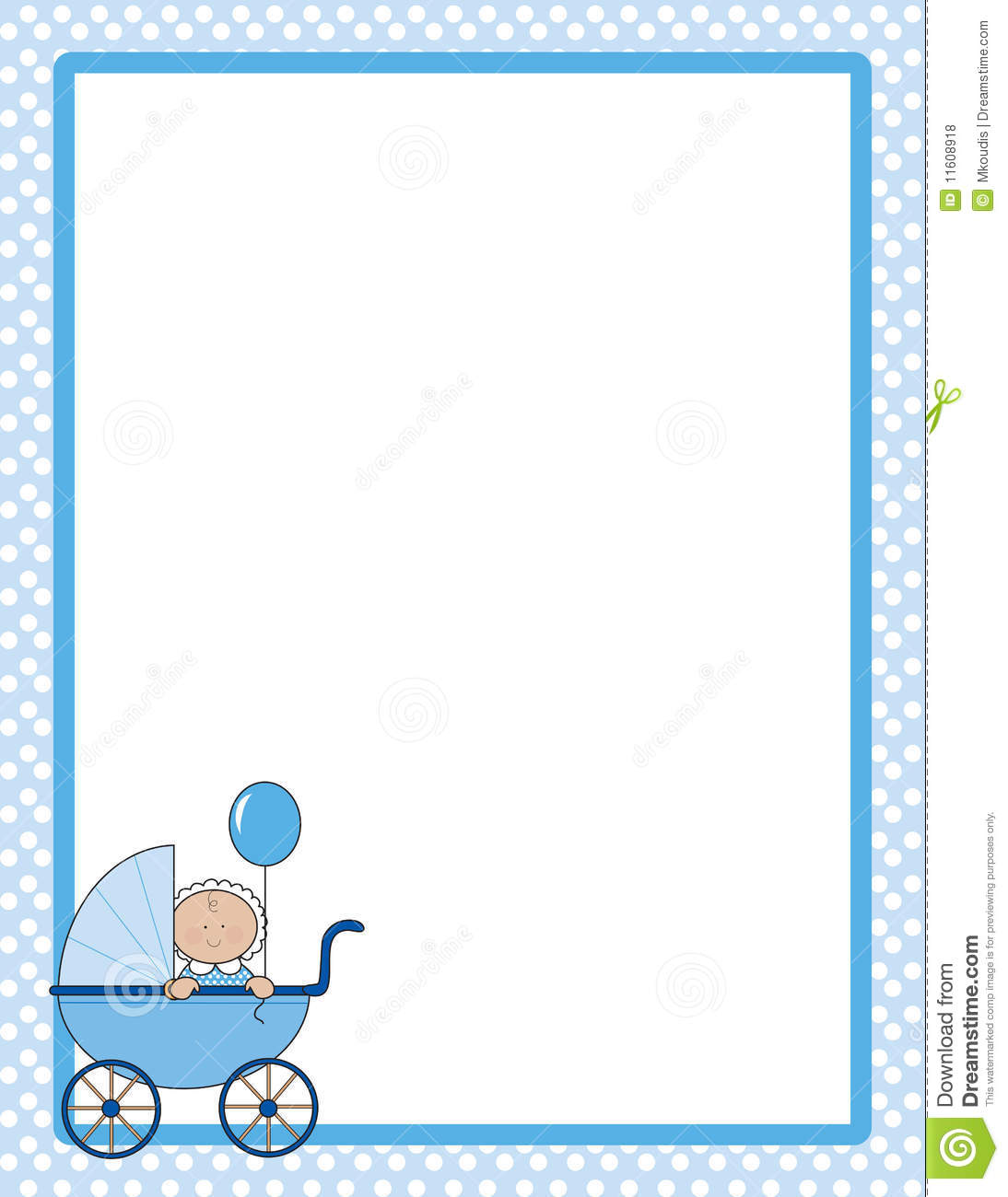 Baby Border Boy stock illustration. Illustration of blue ...